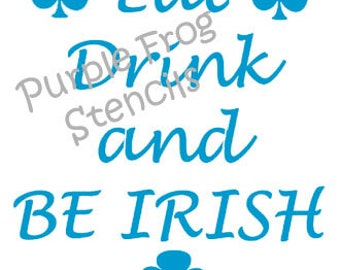 St. Patrick's Day Stencil, Different Sizes Available, Irish, March 17