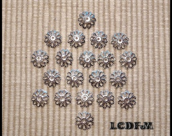 * ¤ Set of 20 bead caps / bead caps filigree - for 10-12mm beads ¤ * #A4