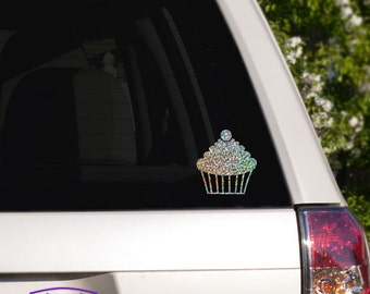 Cherry Topped Cupcake Car Window Decal