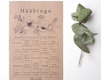 Tulosta itse: Hääbingo Graphic flowers