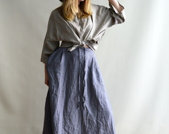 Linen Maxi Skirt, Maxi Skirt Boho, Skirt with Pockets, Womens Skirts, Linen skirt, Boho Skirt, Custom Skirt, Plus size skirt, Handmade