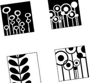 BLACK and WHITE ELEMENTS -ONE INCH  PENDANT IMAGES- BUY 2 GEt 1 FREE