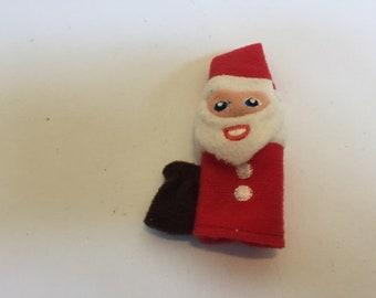 Vintage Finger Puppet! Felt Finger Puppet Santa Claus!  Rare Vintage Finger Puppet