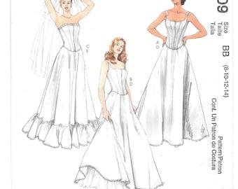 CORSET Top and PETTICOAT Sewing Pattern ~ Bridal Wedding Dress Lingerie Slip ~ Size 8-10-12-14  Evening Elegance Corset Long Slip Petticoat