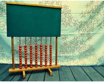 Vintage Large Schoolhouse Chalkboard Abacus for Home Office or Childrens Room