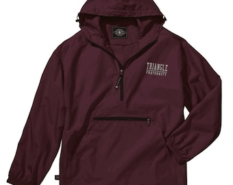 Triangle Fraternity Pack-N-Go Pullover (silver embroidery)