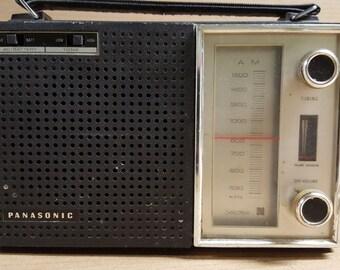 Panasonic Solid State Portable AM Radio Model R-1599 - Carry Handle