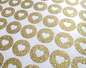 75  Gold Glitter Hershey Kisses labels, gold wedding favor, engagement party stickers, gold heart stickers, Hershey Kiss stickers