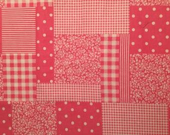 Adorable Pink Patchwork Cotton