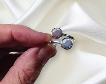 PET DOUBLE CREMATION Ring Sterling Silver Cremation Ashes Ring Holds 2 Sets Pet Ashes Pet Loss Ring Pet Cremation Jewelry Dog Loss Cat Loss