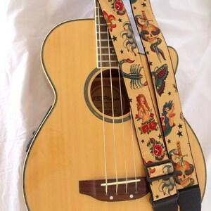 Sailor Jerry Tattoo Guitar Strap