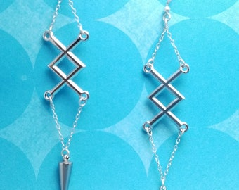 Crossed Thorns Earrings