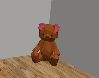 DIY Teddy Bear 3D Paper