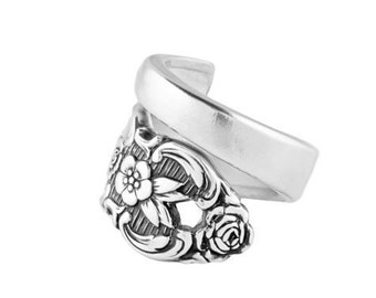 Spoon ring, Distinction, Silver spoon ring, spoon jewelry, vintage spoon ring, silver ring, vintage ring, Handmade ring, Silver Spoon Ring