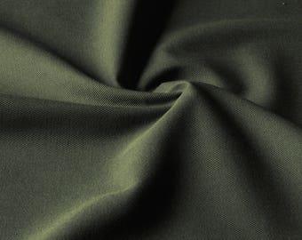 khaki cotton canvas 50 cm