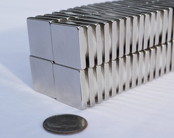 "SQUARE MAGNETS 3/4"" x 3/4 x 1/8 10/25/50/100 STRONGEST N52 Rare E Neodymium *58"