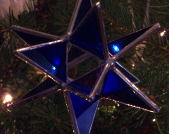 "Stained glass star - Moravian star, 4"" 3D 12 point"