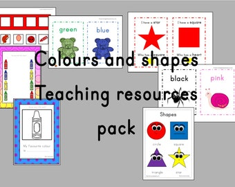 Huge bundle of colours and shapes teachers resources pack, eyfs resources, preschool activity, reception, nursery, early years printables