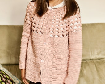 Crochet PATTERN - Luise Cardigan (sizes toddler up to 8 years)
