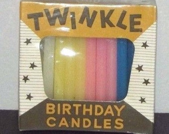 Vintage Twinkle BIRTHDAY CANDLES Mint In Package Sealed