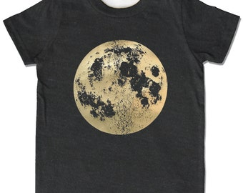 Kids Moon Shirt, Full Moon t-shirt, Moon Gift, Pearl Moon Shirt, space clothes, celestial gift, science children's clothing, lunar moon gift