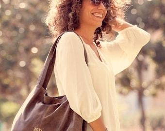 Dark brown leather bag - Soft leather bag - OverSize Bag - Tami bag - Tote bag - Leather tote - Leather bag - Women bag