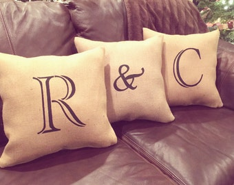 Throw Pillows/Initial Pillows/Initials/Letter Pillows/Letters/Pillows /Personalized