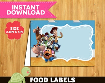 15 Toy Story Food Tent Cards instant download- Printable Toy Story Labels- Toy Story food Table Label