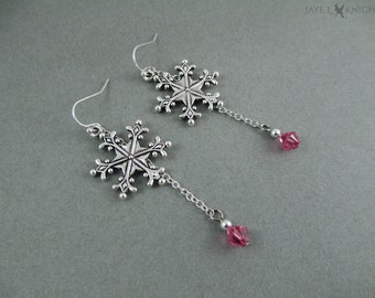 Frozen Snowflake Earrings - Elsa - Silver Charms