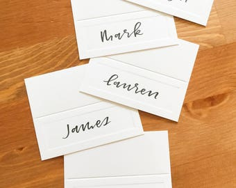 Hand Lettered Wedding and Special Event Place Cards