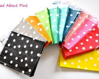 Glassine paper dots bags in different colours - set of 25
