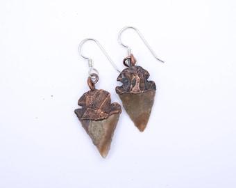 Arrowhead jewelry | Arrowhead earrings | Arrow head earrings | Arrowhead dangle earrings