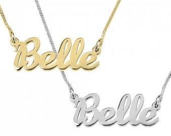 Name Necklace Cursive Font