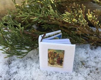Tiny 'The Night Before Christmas' book, christmas book, tiny christmas book, christmas book tree ornament, Night before Christmas book