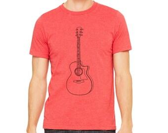 Guitar tshirt | Men's Shirts | Acoustic Guitar | Guitarist shirt | Shirts for Guitar Players | Graphic Tees | Musician shirt | Adult T Shirt