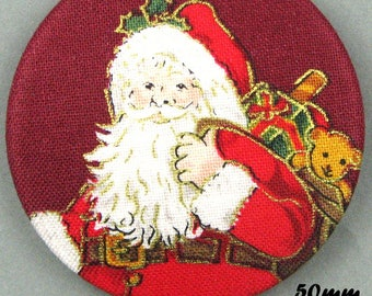 Button fabric - Father Christmas - Santa Claus - 50mm - (50-05)