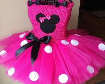Minnie Mouse Tutu Dress & Minnie Mouse Tutu. Perfect for birthday parties pics etc