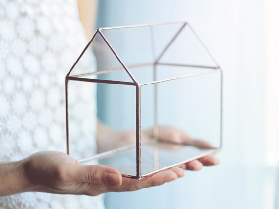 Glass House Small Card Box Jewelry Lover Gift Bedroom