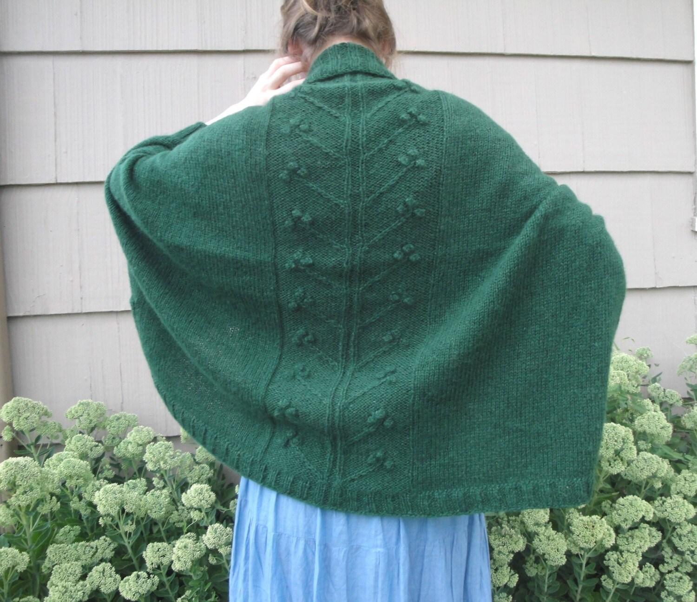 Olivia Shrug Knitting Pattern, Shawl Collar Wrap, Cocoon Sweater ...
