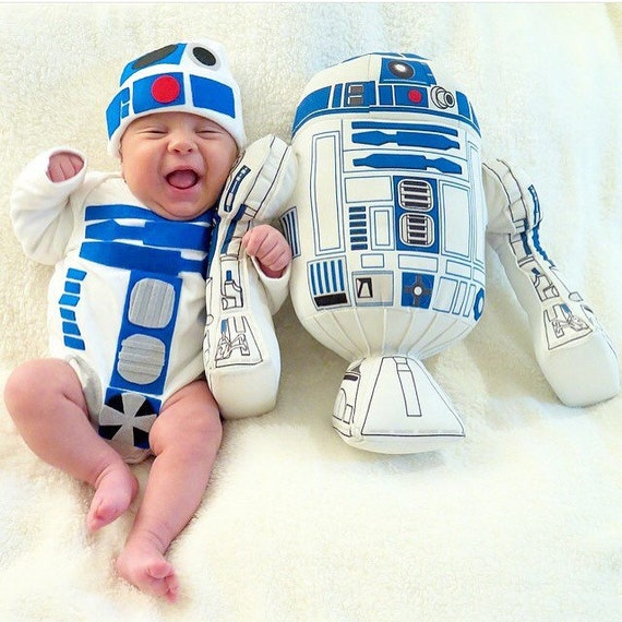 Dad Gift Baby geek Boy Clothes Star Baby Bodysuit Robot