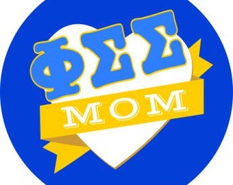 Phi Sigma Sigma Mom Round Decals