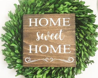 Home Sweet Home Wood Sign - Home Wood Sign
