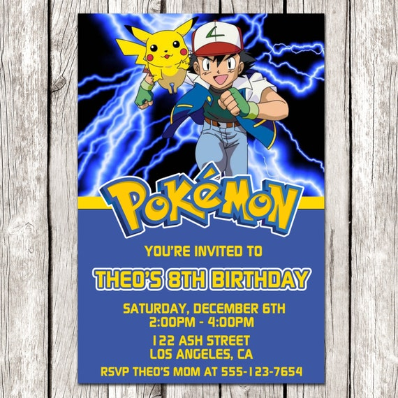 Crazy image intended for pokemon party invitations free printable