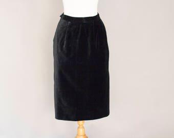 Vintage Velvet Pencil Style Skirt