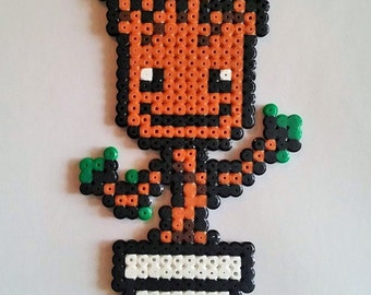Baby Groot from the Guardians of the Galaxy pixel art perler beads