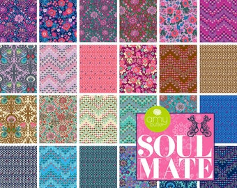 Soul Mate (Poplin) - Fat Quarter Bundle by Amy Butler - Full Collection - 24 prints