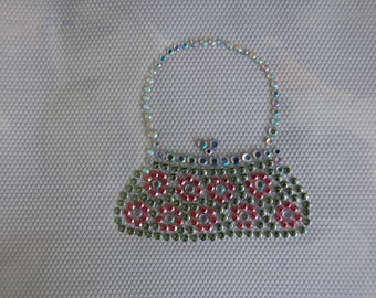 Green Nailhead Purse Heat Transfer