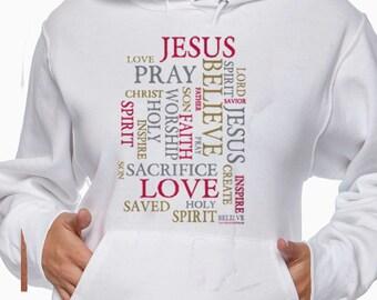 Religious Hoodie - Christian Hoodie - Jesus Hoodie - Christmas Hoodie Gift