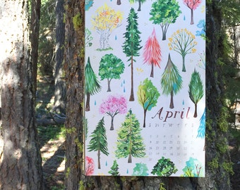 2017 WALL CALENDAR   Limited edition   Forest, Field, & Sea   11x17 Large Calendar