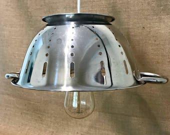 Retro Colander Pendant Light